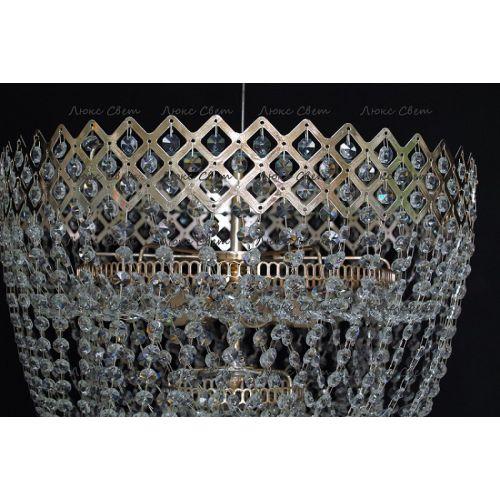 Люстра Водопад корона № 3 в Санкт-Петербурге Гусь Хрустальный