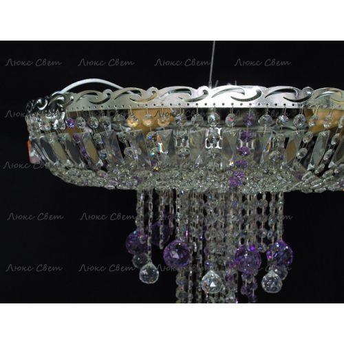 Люстра Анжелика 1 шар 40 мм фиолетовая в Санкт-Петербурге Гусь Хрустальный