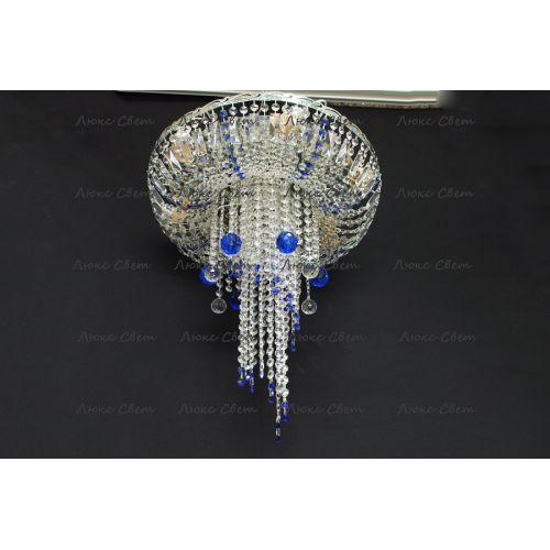 Люстра Анжелика 1 шар 40 синяя в Санкт-Петербурге Гусь Хрустальный