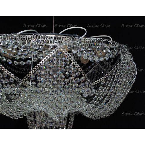 Люстра Галактика 1, цвет фурнитуры: серебро, Люстры Гусь Хрустальный