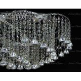 Люстра Космос конус, Диаметр 700 мм, 6 ламп, серебро, Люстры Гусь Хрустальный