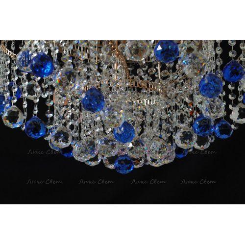 Люстра Космос шар 40 мм синяя в Санкт-Петербурге Гусь Хрустальный