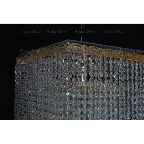 Люстра Квадрат гамма 53 см шар 30 мм  в Санкт-Петербурге Гусь Хрустальный