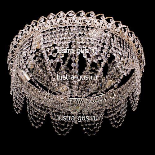 Люстра Адель, диаметр 450 мм, цвет золото Гусь Хрустальный