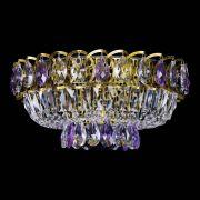 Люстра Астра Бутон №1 фиолетовая под бронзу