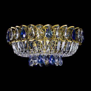 Люстра Астра Бутон №1 синяя под бронзу