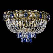 Люстра Астра Бутон №3 синяя под бронзу