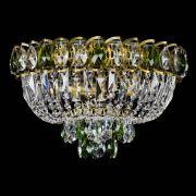 Люстра Астра Бутон №3 зеленая под бронзу