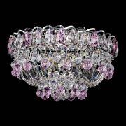 Люстра Астра Шар №3 Розовая с журавликами