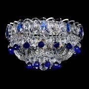 Люстра Астра Шар №3 Синяя с журавликами