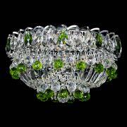 Люстра Астра Шар №3 Зеленая с журавликами