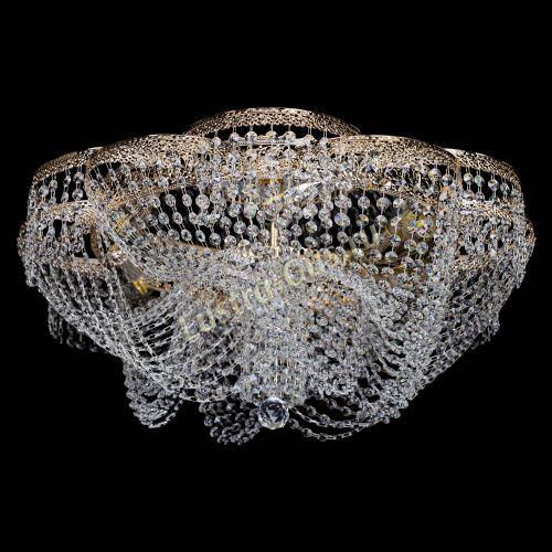 Люстра Есения Антик, диаметр - 700 мм, цвет - золото Гусь Хрустальный