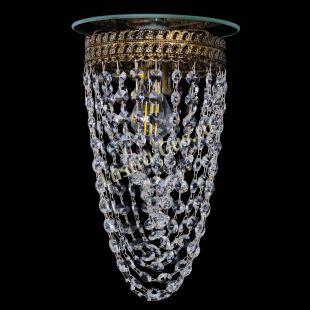 Люстра хрустальная Флоренция №1 Водоворот под бронзу