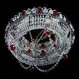Люстра Глория №1 красная, диаметр - 500 мм, цвет фурнитуры - серебро, Люстры Гусь Хрустальный