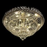 Люстра Хрустальный Каскад №1, диаметр - 700 мм, цвет - золото, Люстры Гусь Хрустальный