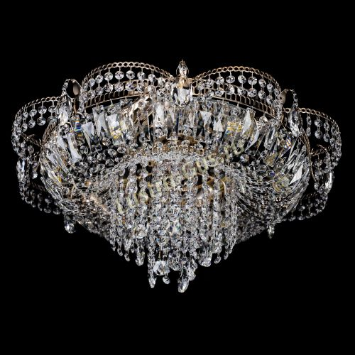 Люстра Камея №1, диаметр - 600 мм, цвет - золото Гусь Хрустальный