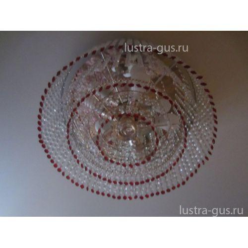 Люстра Капель обтикон 5 ламп в Санкт-Петербурге Гусь Хрустальный
