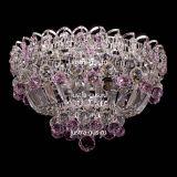 Люстра Катерина шар розовая, диаметр 400 мм, цвет серебро , Люстры Гусь Хрустальный