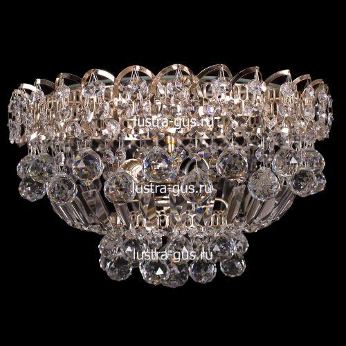 Люстра Катерина Шар, диаметр 400 мм, цвет золото, Люстры Гусь Хрустальный
