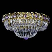 Люстра Кольцо Классика Пластинка фиолетовая под бронзу