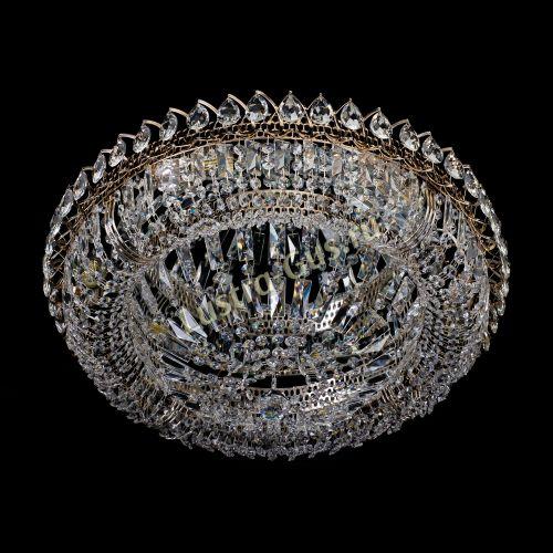 Люстра Кольцо Классика Пластинка, Диаметр - 600 мм,  золото Гусь Хрустальный