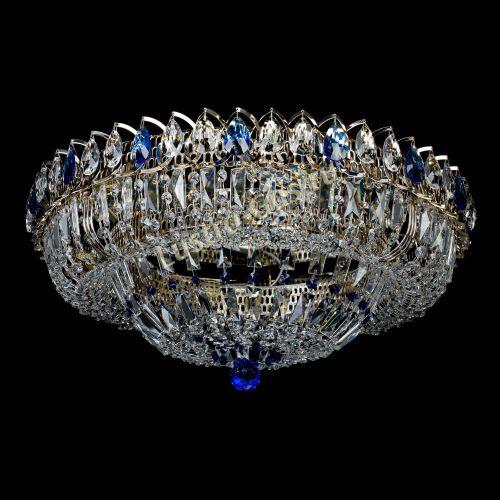 Люстра Кольцо Классика Пластинка синяя в Санкт-Петербурге Гусь Хрустальный