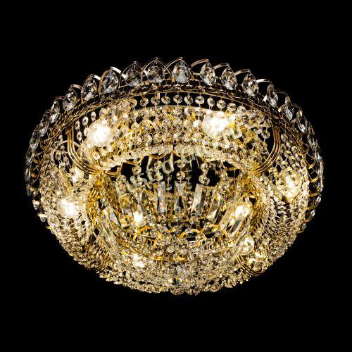 Люстра Кольцо Классика 500 мм, цвет: золото Гусь Хрустальный