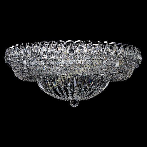 Люстра Кольцо Классика 600 мм, цвет: серебро Гусь Хрустальный