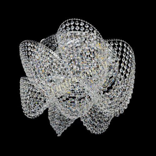 Люстра Космея Высокая, диаметр - 520 мм, цвет - серебро Гусь Хрустальный
