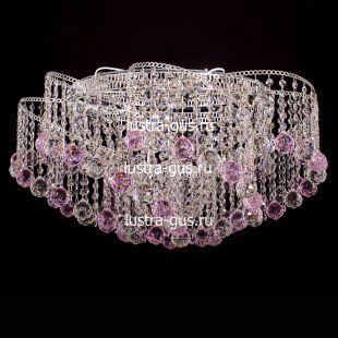 Люстра Космос шар 40 мм розовая