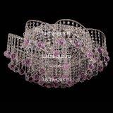 Люстра Космос шар 40 розовая, диаметр 700 мм, цвет золото, Люстры Гусь Хрустальный