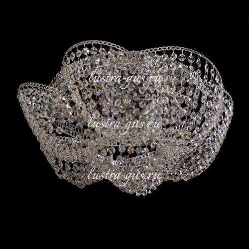 Люстра Космос 3 лампы, цвет фурнитуры: серебро Гусь Хрустальный