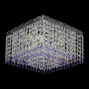 Люстра квадратная Квадрат Оптикон фиолетовая