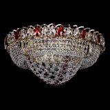 Люстра Лада красная, диаметр - 450 мм, цвет - золото, Люстры Гусь Хрустальный