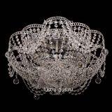 Люстра Лотос Ольга, диаметр 500 мм, цвет серебро, Люстры Гусь Хрустальный