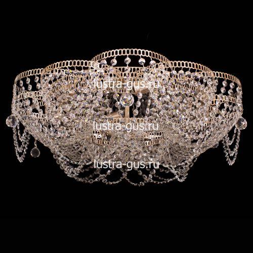 Люстра Лотос Ольга, диаметр 700 мм, цвет золото Гусь Хрустальный