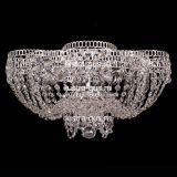 Люстра Лотос Пион, диаметр 500 мм, цвет серебро, Люстры Гусь Хрустальный
