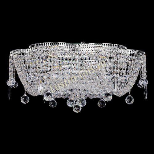 Люстра Лотос Стелла, диаметр - 700, цвет - серебро Гусь Хрустальный