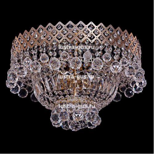 Люстра Водопад корона № 1, цвет фурнитуры: золото, Люстры Гусь Хрустальный