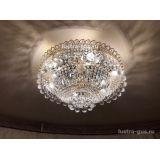 Люстра Водопад шар, диаметр 600 мм, золото, Люстры Гусь Хрустальный