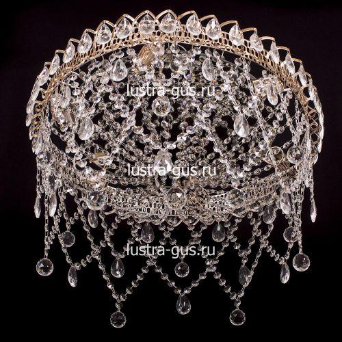 Люстра Паутинка, диаметр 500 мм, цвет золото, Люстры Гусь Хрустальный