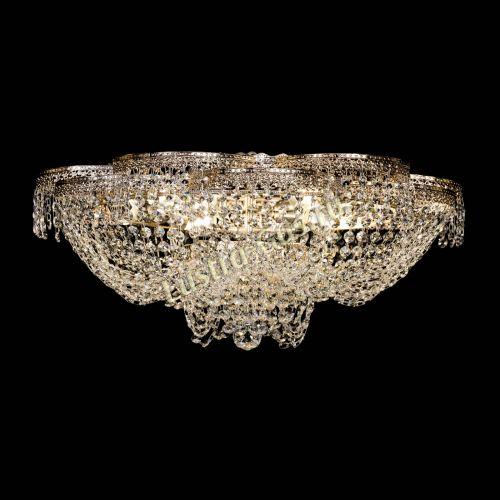 Люстра Пион Антик, диаметр - 600 мм, цвет - золото Гусь Хрустальный