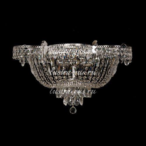 Люстра Ромашка, диаметр 560 мм,  5 ламп, серебро, Люстры Гусь Хрустальный