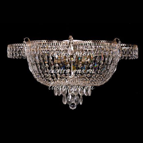 Люстра Ромашка, диаметр 560 мм,  5 ламп, золото, Люстры Гусь Хрустальный
