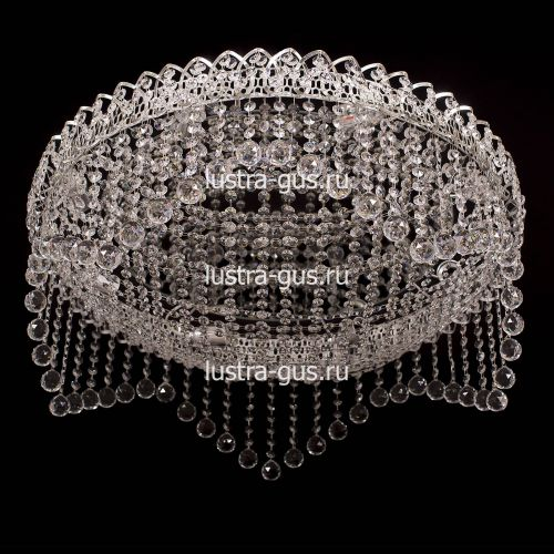 Люстра Сапфир, диаметр 700 мм, серебро Гусь Хрустальный