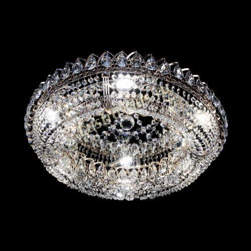 Люстра Снежинка, диаметр - 600 мм, цвет - золото Гусь Хрустальный