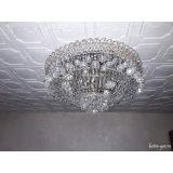 Люстра Водопад шар, диаметр 450 мм, серебро, Люстры Гусь Хрустальный