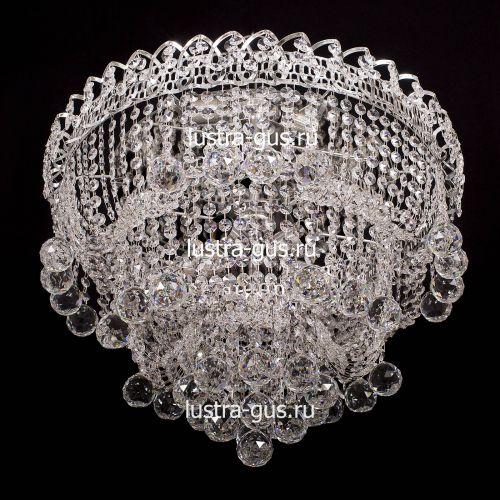 Люстра Водопад Софья, диаметр 450 мм, цвет серебро, Люстры Гусь Хрустальный