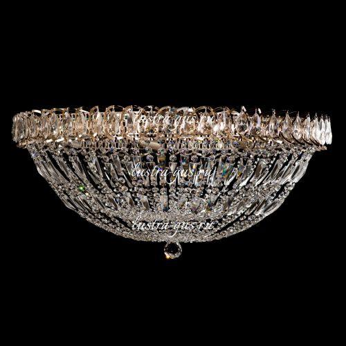 Люстра Водоворот Купол 2, 700 мм, золото, Люстры Гусь Хрустальный