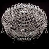 Люстра Роза Водоворот, диаметр 500 мм, цвет серебро, Люстры Гусь Хрустальный